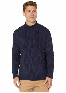 J.Crew 1988 Rollneck Sweater in Cable Knit Cotton