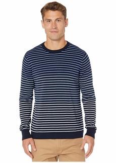J.Crew Cotton Crew Neck Sweater in Gradient Stripe