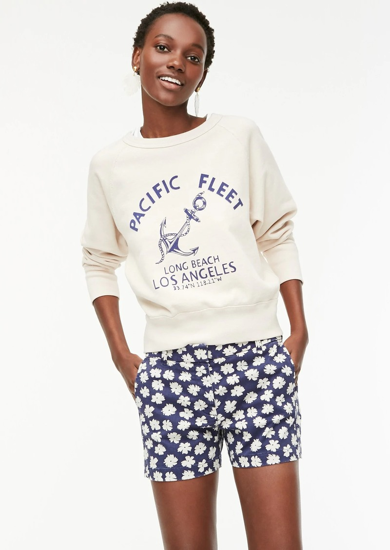 """J.Crew 4"""" stretch chino short in scattered daisies"""