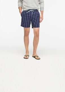 "J.Crew 6"" stretch eco swim trunk in arrowhead print"