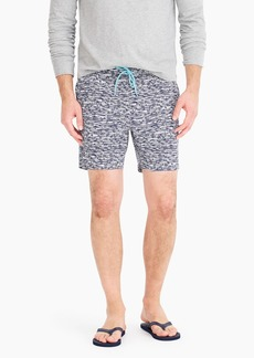 "J.Crew 6"" stretch swim trunk in brushed lines print"