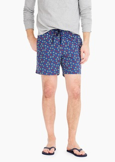 "J.Crew 6"" stretch eco swim trunk in jumping flowers print"