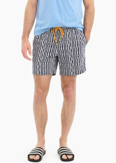 "J.Crew 6"" stretch eco swim trunk in lei stripe"