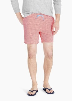 "J.Crew 6"" stretch swim trunk in maze print"