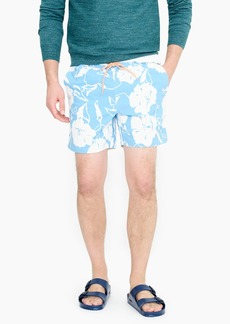 "J.Crew 6"" stretch eco swim trunk in poppy vines print"
