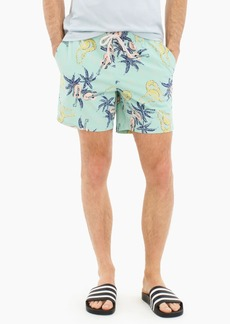"J.Crew 6"" stretch eco swim trunk in ukulele print"