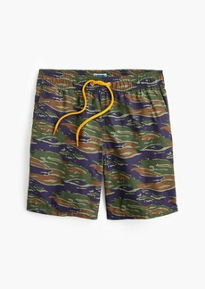 "J.Crew 6"" swim trunk in camo print"