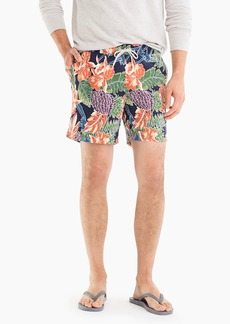"J.Crew 6"" swim trunk in floral"
