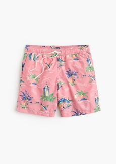 "J.Crew 6"" swim trunk in Hawaii print"
