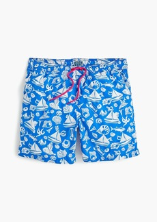 "J.Crew 6"" swim trunk in seaside print"