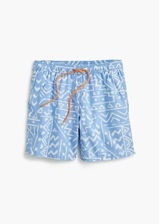 "J.Crew 6"" swim trunk in sketch print"