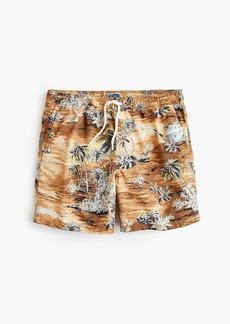 "J.Crew 6"" swim trunk in vacation island print"