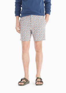 "J.Crew 7"" stretch eco pool short in floral print"