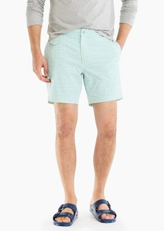 "J.Crew 7"" stretch pool short in geometric print"