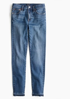 "J.Crew Tall 8"" toothpick jean with let-down hem in bright medium wash"