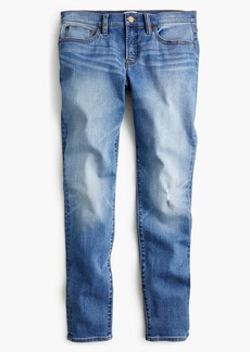 "J.Crew Tall 8"" toothpick skinny jeans in medium wash"