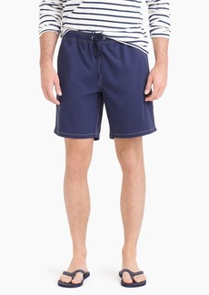 "J.Crew 8"" stretch eco swim trunk in solid"