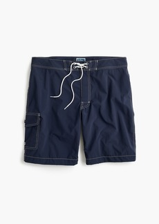 "J.Crew 9"" board short in navy"