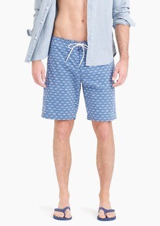"J.Crew 9"" stretch eco board short in oval diamond geo"