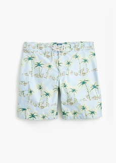 "J.Crew 9"" board short in palm tree print"