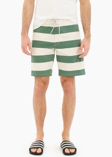 "J.Crew 9"" stretch eco board short in rugby stripe"