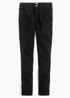 "J.Crew 9"" high-rise jeggings in black wash"