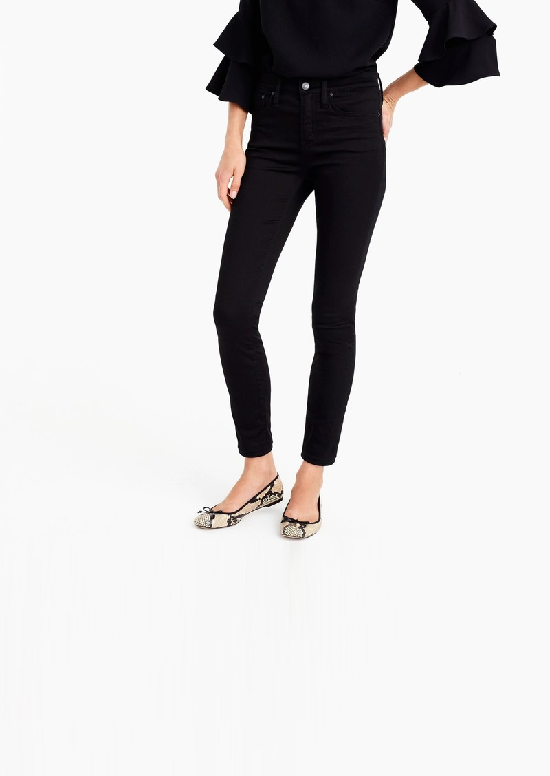 """J.Crew 9"""" high-rise stretchy toothpick jean in new black"""