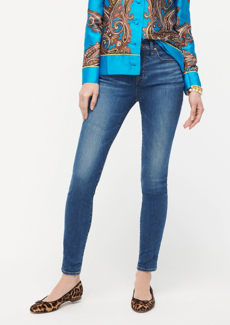 """J.Crew 9"""" high-rise toothpick eco jean in Ocean Blue wash"""