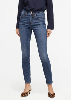 """J.Crew 9"""" high-rise toothpick jean in Blue Mountain wash"""