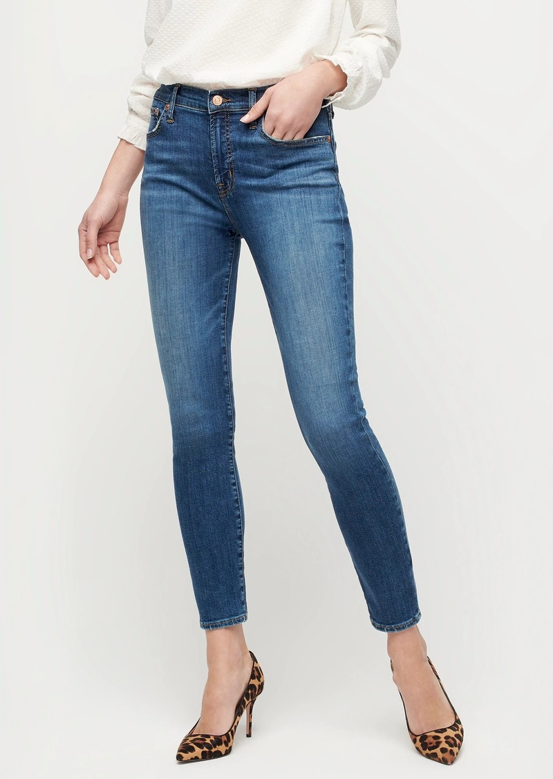"""J.Crew 9"""" high-rise toothpick jean in Blue Nile wash"""