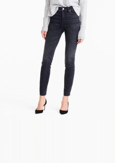 """J.Crew 9"""" high-rise toothpick jean in Charcoal wash"""