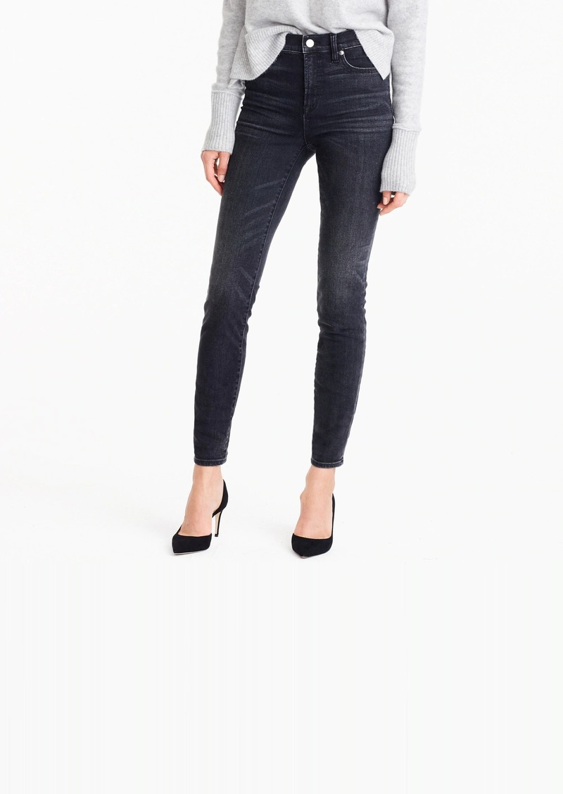 """J.Crew 9"""" high rise toothpick jean in charcoal wash"""