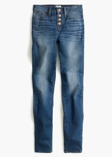 "J.Crew 9"" high-rise toothpick jean in Daly wash with button fly"