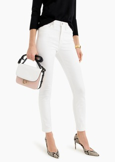 """J.Crew 9"""" high-rise toothpick jean in white"""