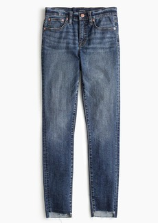 "J.Crew Tall 9"" high-rise toothpick jean with step hem"