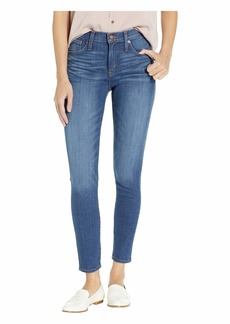 "J.Crew 9"" High-Rise Toothpick Jeans in Worn Medium Wash"