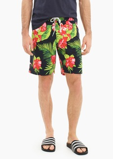 "J.Crew 9"" stretch eco board short in hibiscus print"