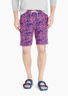"J.Crew 9"" stretch eco board short in vines print"