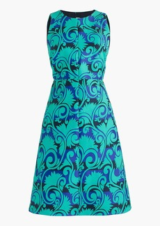 A-line dress in vineyard jacquard