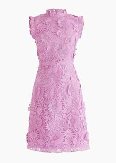 J.Crew A-line dress with lace floral appliqués