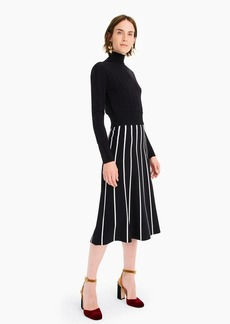 J.Crew A-line midi sweater skirt with contrast piping