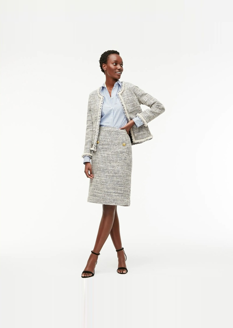 J.Crew A-line skirt in speckled tweed