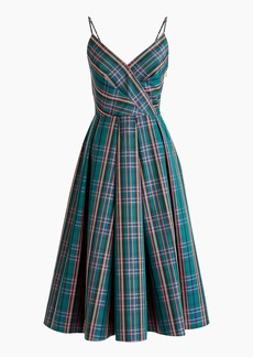 A-line spaghetti-strap dress in J.Crew Signature Tartan