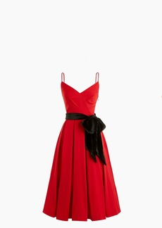 J.Crew A-line spaghetti-strap dress with velvet tie