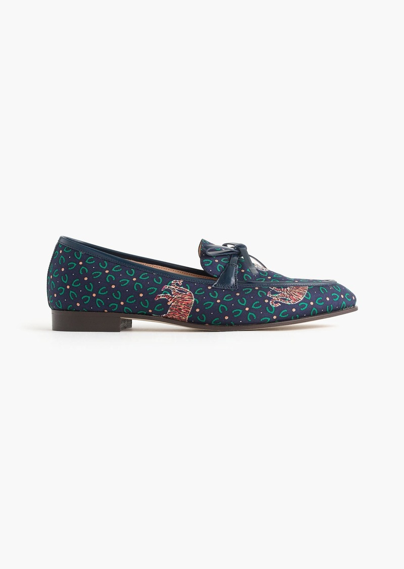 9ca721c1b51 J.Crew Academy loafers in tiger print