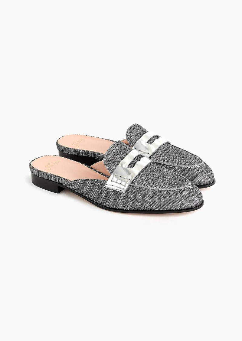 3ce3f941794 SALE! J.Crew Academy penny-loafer mules in Lurex®