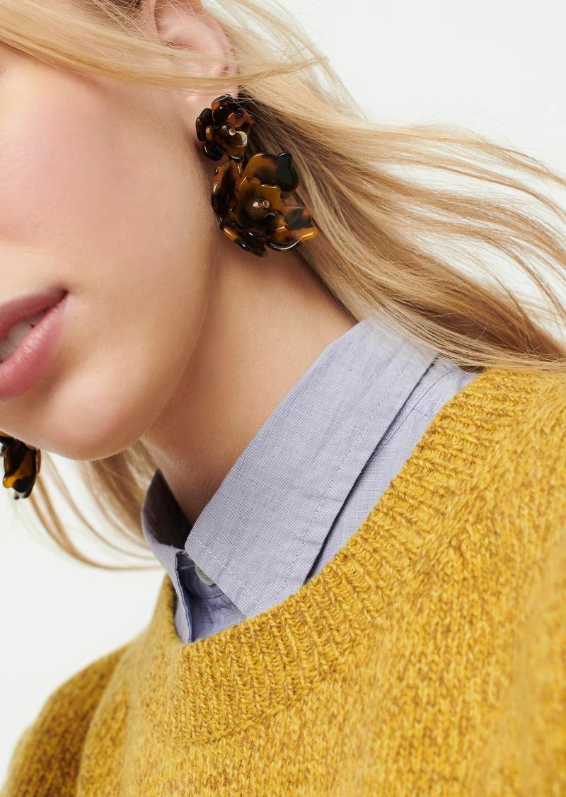 J.Crew Acetate bloom earrings in tortoise