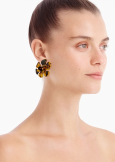 J.Crew Acetate flower stud earrings