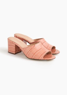 J.Crew All-day mule (60mm) in croc-embossed leather