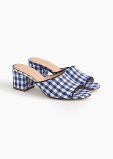 J.Crew All-day mules (60mm) in gingham